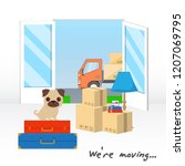 transportation and home removal....   Shutterstock .eps vector #1207069795