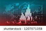 stock market or forex trading... | Shutterstock . vector #1207071358