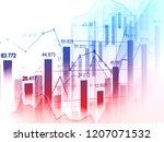 stock market or forex trading... | Shutterstock . vector #1207071532
