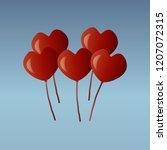 festive balloons on a blue... | Shutterstock .eps vector #1207072315