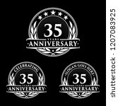 35 years anniversary set. 35th... | Shutterstock .eps vector #1207083925
