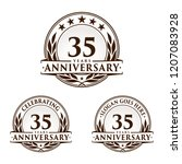 35 years anniversary set. 35th... | Shutterstock .eps vector #1207083928