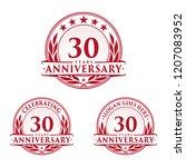 30 years anniversary set. 30th... | Shutterstock .eps vector #1207083952