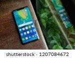 london england   huawei launch... | Shutterstock . vector #1207084672