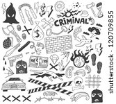 crime   doodles collection | Shutterstock .eps vector #120709855