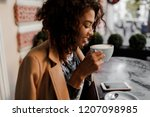 woman typing write message on... | Shutterstock . vector #1207098985