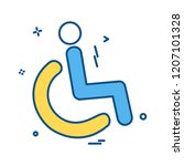 handicapped icon design vector | Shutterstock .eps vector #1207101328