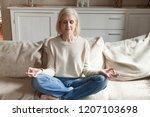 Calm Senior Woman Relax On...