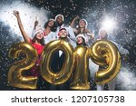 new year is coming. group of... | Shutterstock . vector #1207105738
