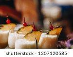 detail shot of glasses of pi a... | Shutterstock . vector #1207120585