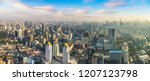 panorama of bangkok in a summer ... | Shutterstock . vector #1207123798