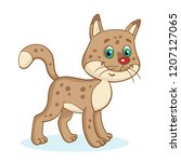 funny  little  brown  spotted... | Shutterstock .eps vector #1207127065