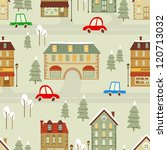 colorful christmas city... | Shutterstock .eps vector #120713032