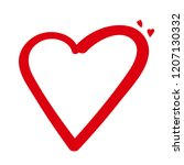 heart. vector illustration of... | Shutterstock .eps vector #1207130332