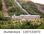 Small photo of Vemork Hydroelectric Power Station at Rjukan, a part of Rjukan-Notodden UNESCO Industrial Heritage Site, known for Norwegian heavy water sabotage