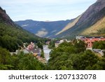 aerial view of rjukan  formerly ... | Shutterstock . vector #1207132078