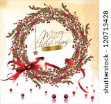 Red Bubble Christmas Wreath...