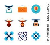 aerial icon set. vector set...   Shutterstock .eps vector #1207162912
