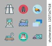 perspective icon set. vector... | Shutterstock .eps vector #1207167418