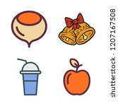 raw icon set. vector set about... | Shutterstock .eps vector #1207167508