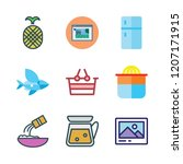 organic icon set. vector set... | Shutterstock .eps vector #1207171915