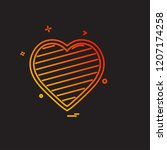 hearts icon design vector | Shutterstock .eps vector #1207174258