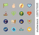 hope icon set. vector set about ... | Shutterstock .eps vector #1207175335