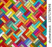 embroidered seamless geometric... | Shutterstock .eps vector #1207178098