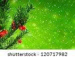 Christmas Branch Of Juniper...