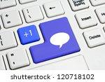 social media keyboard button | Shutterstock . vector #120718102