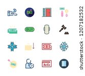 real icon set. vector set about ... | Shutterstock .eps vector #1207182532