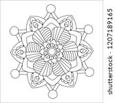 flower mandala illustration.... | Shutterstock . vector #1207189165