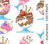 seamless pattern. set of ice... | Shutterstock .eps vector #1207190692