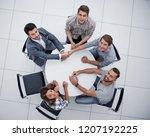 top view.creative business... | Shutterstock . vector #1207192225
