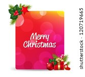 blank gift tag with gift bow... | Shutterstock .eps vector #120719665