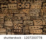 background of painted wooden... | Shutterstock . vector #1207203778