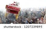 digital composite of santa... | Shutterstock . vector #1207239895