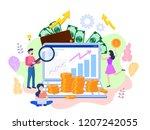 concept seo  market research... | Shutterstock . vector #1207242055