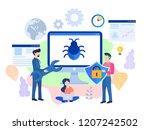 concept application testing ... | Shutterstock . vector #1207242502