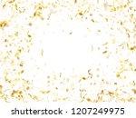 gold glossy realistic confetti... | Shutterstock .eps vector #1207249975