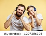 bearded father and his son in...   Shutterstock . vector #1207256305