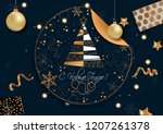 happy new year 2019 card for... | Shutterstock .eps vector #1207261378