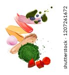 group of multicolored make up... | Shutterstock . vector #1207261672