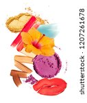 group of multicolored make up... | Shutterstock . vector #1207261678