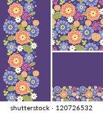 set of purple flowers seamless... | Shutterstock .eps vector #120726532