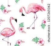 hand painted watercolor... | Shutterstock . vector #1207265362