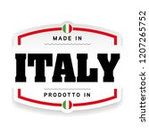 made in italy label sign | Shutterstock .eps vector #1207265752