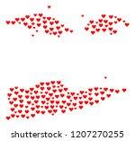 collage map of american virgin... | Shutterstock .eps vector #1207270255