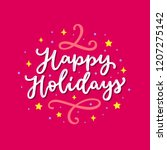 happy holidays cute colorful...   Shutterstock .eps vector #1207275142