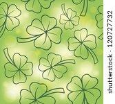 seamless texture clover day... | Shutterstock .eps vector #120727732